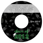 Hats Off CD DVD Graduation Labels