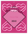 Heart Banner Valentine Big Rectangle Favor Tag 3.25x4