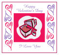Hearts Clipart Valentine Big Square Labels 3.5x3.25