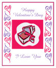 Hearts Clipart Valentine Big Rectangle Labels 3.25x4