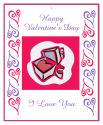 Hearts Clipart Valentine Big Rectangle Favor Tag 3.25x4