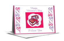Hearts Clipart Valentine Note Card