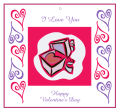 Hearts Clipart Valentine Big Square Favor Tag 3.5x3.25