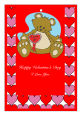 Hearts Galore Valentine Vertical Rectangle Favor Tag 1.875x2.75