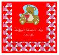 Hearts Galore Valentine Big Square Labels 3.5x3.25