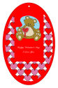 Hearts Galore Valentine Vertical Oval Favor Tag 2.25x3.5