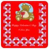 Hearts Galore Square Valentine Coasters