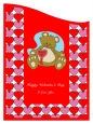 Hearts Galore Valentine Curved Wine Labels 2.75x3.75