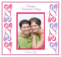 Hearts Photo Valentine Big Square Labels 3.5x3.25