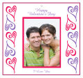 Hears Photo Valentine Big Square Favor Tag 3.5x3.25