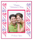 Hears Photo Valentine Big Rectangle Favor Tag 3.25x4