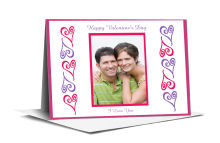 Hearts Photo Valentine Note Card