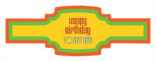 Hippie Birthday Buckle Cigar Band Labels
