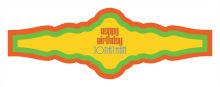 Hippie Birthday Fancy Cigar Band Labels
