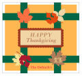 Fall Foliage Square Labels 3.5x3.25