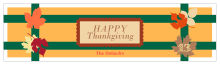 Thanksgiving Fall Foliage Water bottle Labels 7x1.875