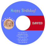 CD Kid Birthday Labels