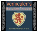 Lion Square Text Navy Beer Labels