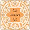 Mannerism Square Wedding Coaster