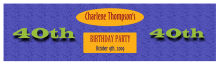 Party Time Birthday Water Bottle Labels