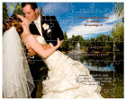 Phtot with Text Large Favor Wedding Puzzle 8x10