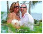 Photo with Text Wedding Puzzle 8x10,