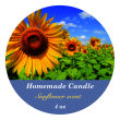 Photo with Text Big Candle Circle Labels