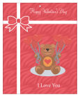 Present Valentine Big Rectangle Favor Tag 3.25x4