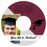 Pride CD DVD Graduation Labels