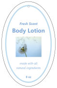 Pure Vertical Oval Bath Body Favor Tag