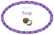 Refresh Oval Bath Body Favor Tags