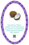 Refresh Text Oval Bath Body Favor Tag