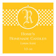 Regal Big Square Candle Hang Tag