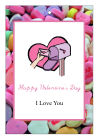 Simple Border  Valentine Big Rectangle Favor Tag 3.25x4