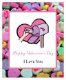 Simple Border Valentine Vertical Rectangle Favor Tag 1.875x2.75