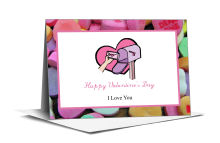 Simple Border Photo Valentine Note Card