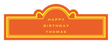 Simple Border Birthday Billboard Cigar Band Labels