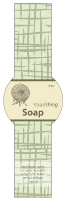 Soothing Soap Band Circle Labels