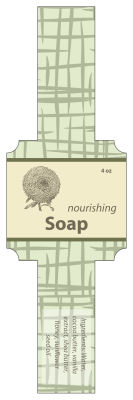 Soothing Soap Band Square Labels