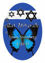 Starburst Vertical Oval Bat Mitzvah Label