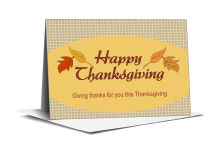 Leaves Thanksgiving Note Card 5x3.5