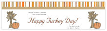 Stripes Thanksgiving Water bottle Labels 7x1.875