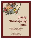 Thick Border Thanksgiving Rectangle Hang Tag 3.25X4