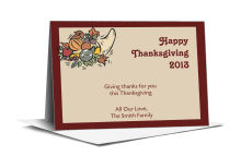 Thick Border Thanksgiving Note Card 5x3.5