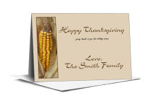 Happy Thanksgiving Note Card 5x3.5