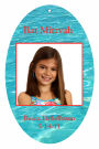 Theme Vertical Oval Bat Mitzvah Favor Tag