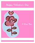 Top and Bottom Valentine Big Rectangle Favor Tag 3.25x4