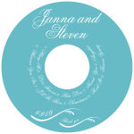 Wave CD-DVD Wedding Labels