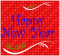 Happy New Year Horizontal Rectangle Labels 3.5x3.25