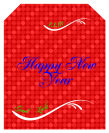 Happy New Year Wine Labels 3.25x4
